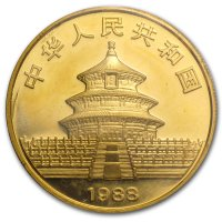 China Panda Gold Avers 1988