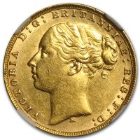 Gold Sovereign von 1871-1887 - Young Victoria - Avers